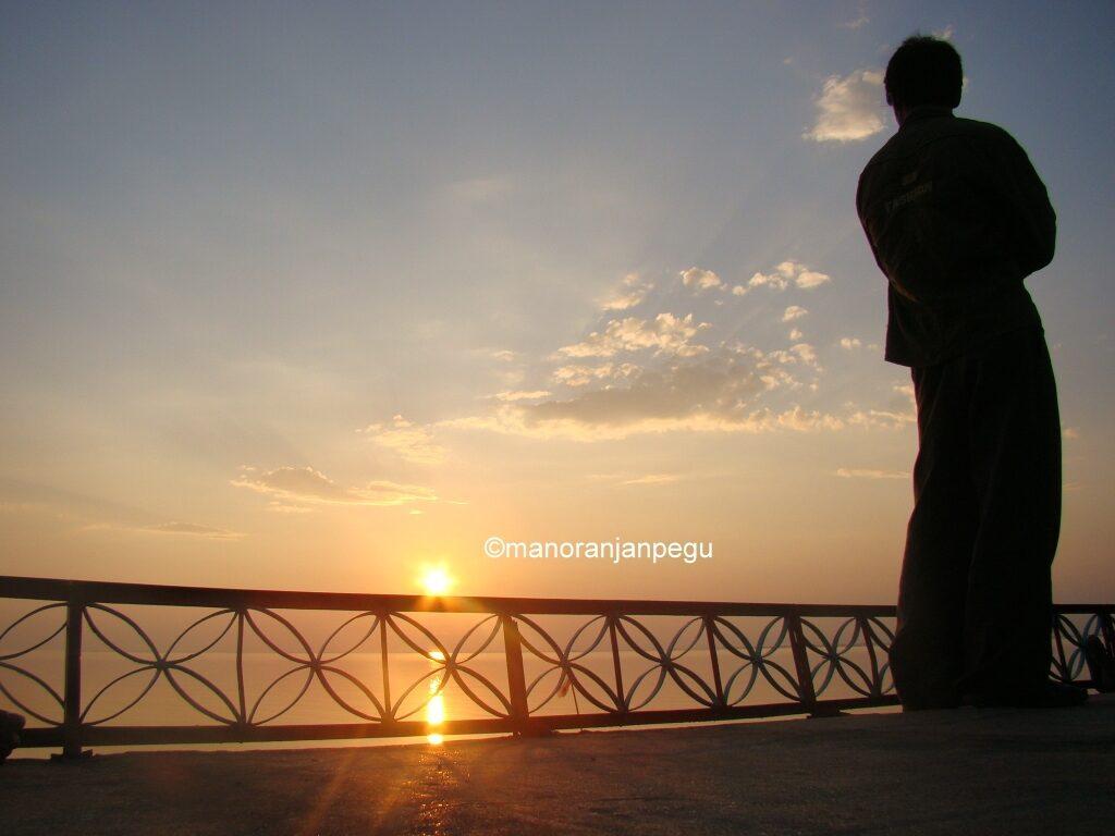 An evening across river Brahmaputra